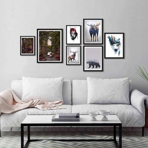 Orman Çerçeveli Poster Seti