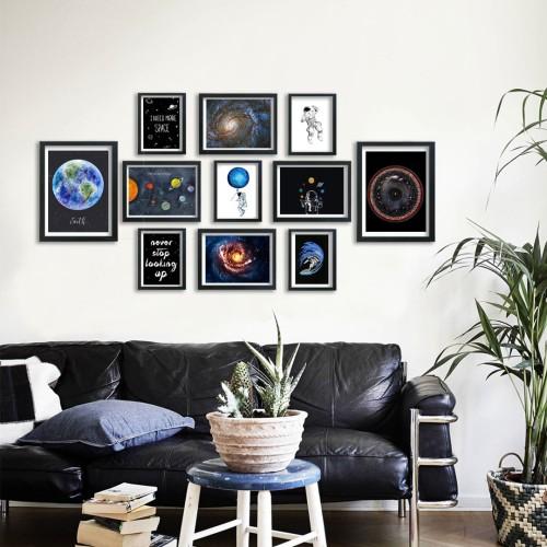 Space Çerçeveli Poster Seti