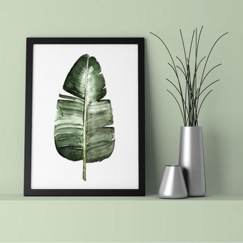 Muz Yaprak Çerçeveli Poster