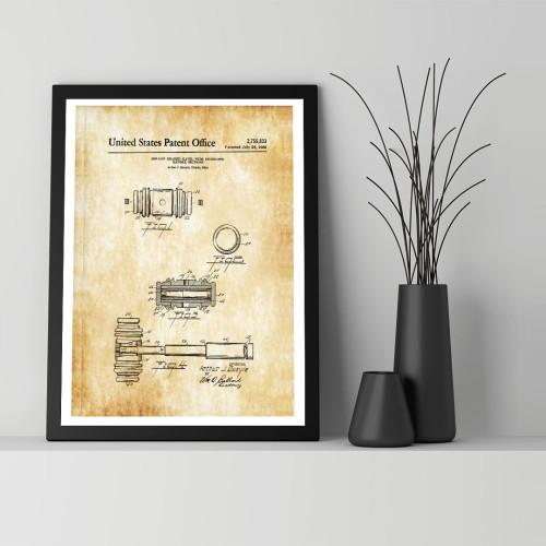 Tokmak Patent Çerçeveli Poster