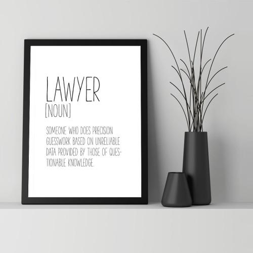 Lawyer Çerçeveli Poster