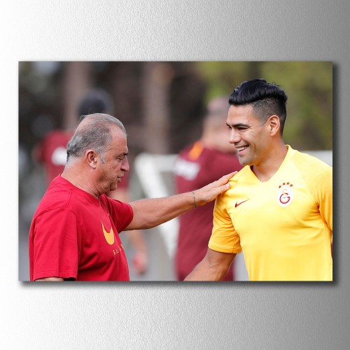 Fatih Terim ve Falcao Kanvas Tablo