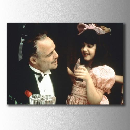 Don Corleone Torunuyla Kanvas Tablo