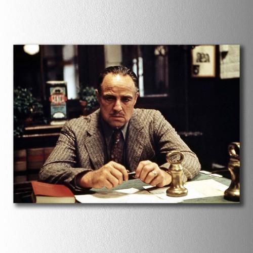 Don Corleone Ofisinde Kanvas Tablo