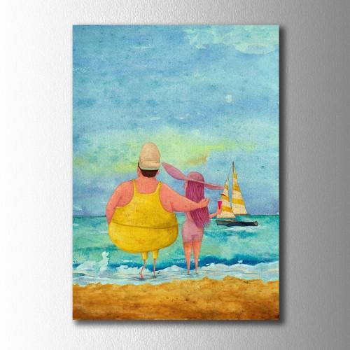 Sarı Reis Sahilde Kanvas Tablo