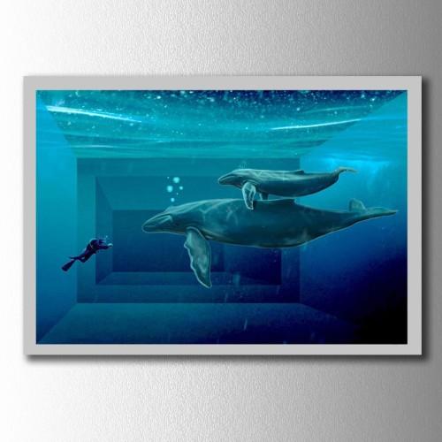 Balinalar Kanvas Tablo