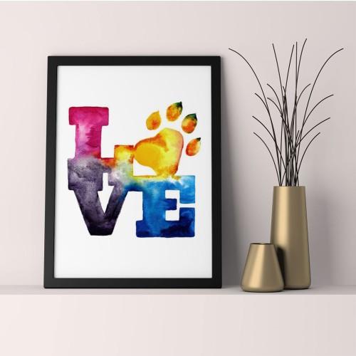 Pet Love Çerçeveli Poster