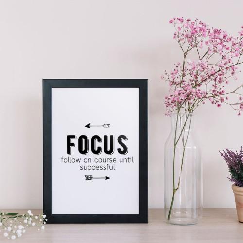Focus Yazılı Çerçeveli Poster