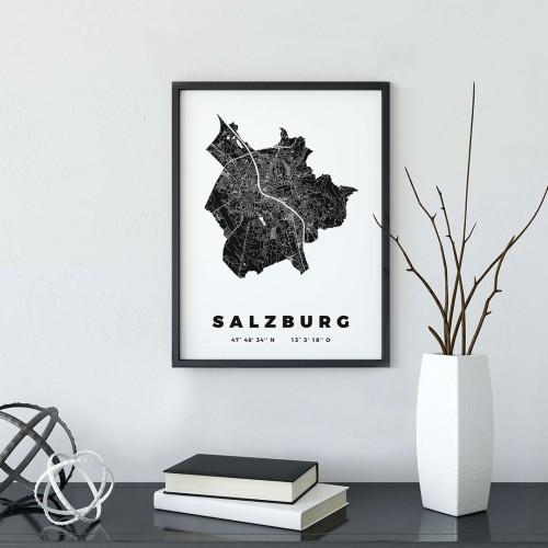 Slazburg Çerçeveli Poster