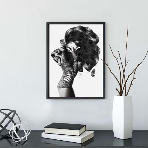 Saçlar Çerçeveli Poster