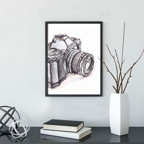 Fotoğraf Makinası Çerçeveli Poster