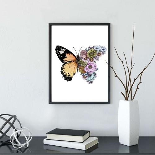 Rengarek Kelebek Çerçeveli Poster