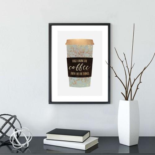 Coffee Çerçeveli Poster