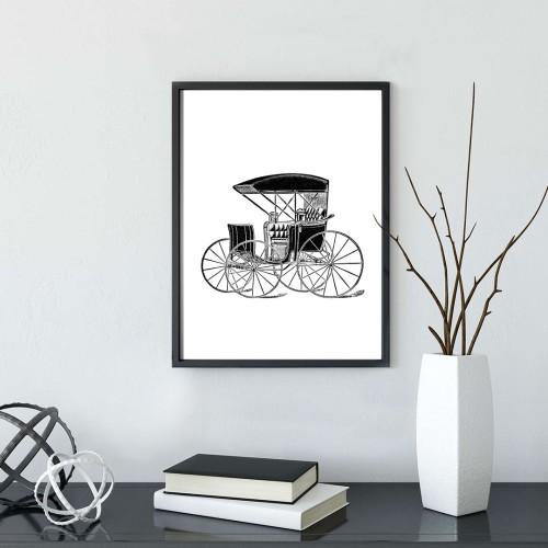 Eski Araba Çerçeveli Poster