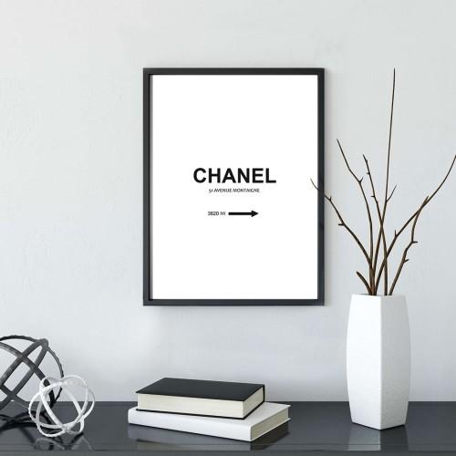 Chanel Çerçeveli Poster