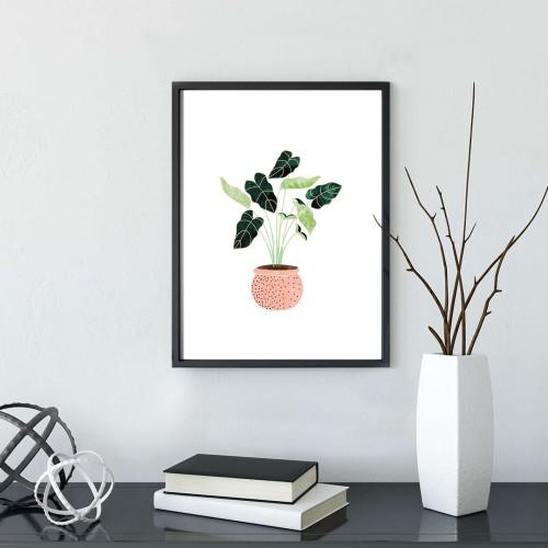 Pembe Vazo Çerçeveli Poster