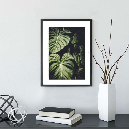 Yapraklar Çerçeveli Poster