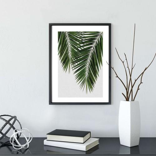 İnce Yapraklar Çerçeveli Poster