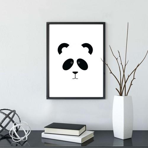 Panda Çerçeveli Poster