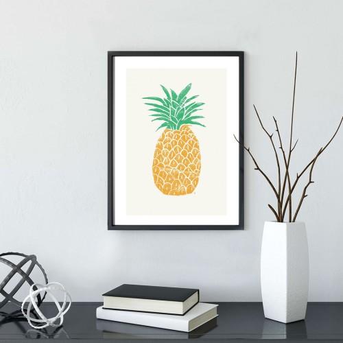 Ananas Çerçeveli Poster