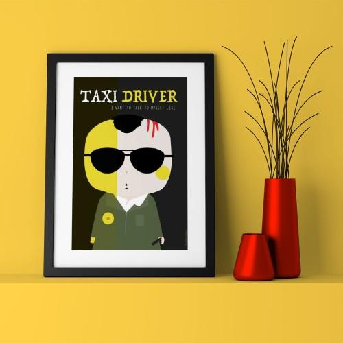 Taxi Driver Çerçeveli Poster