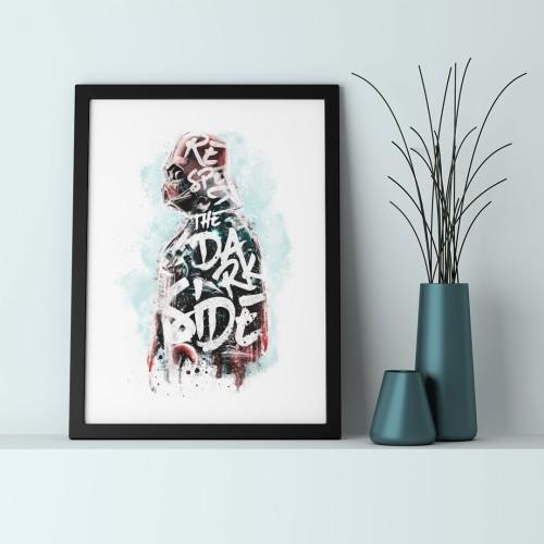 Darth Vader Çerçeveli Poster