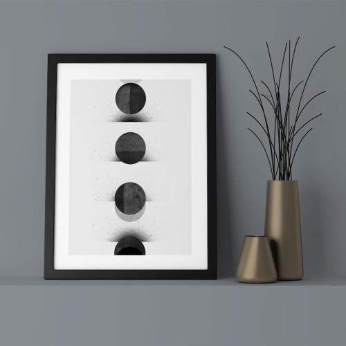 Ay Tutulması Çerçeveli Poster