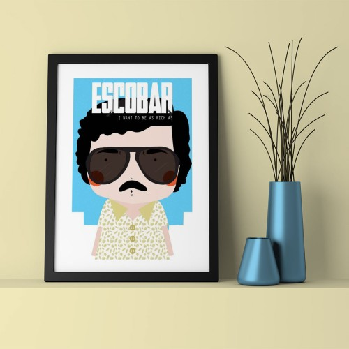 Escobar Çerçeveli Poster