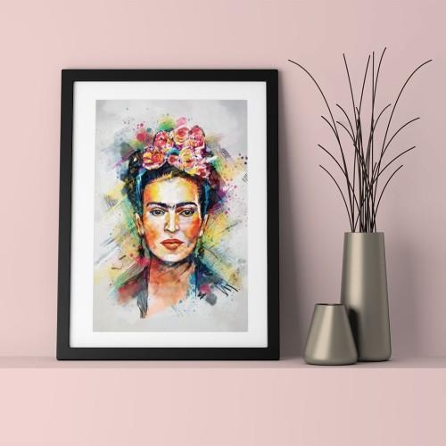 Frida Kahlo Çerçeveli Poster