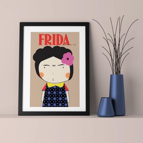 Frida Çerçeveli Poster