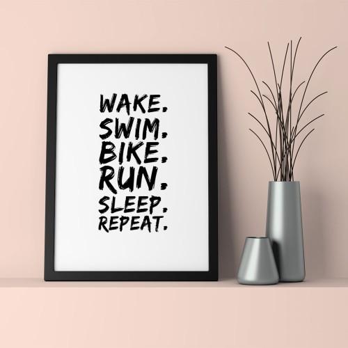 Wake Run Çerçeveli Poster
