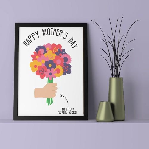 Mothers Day Çerçeveli Poster