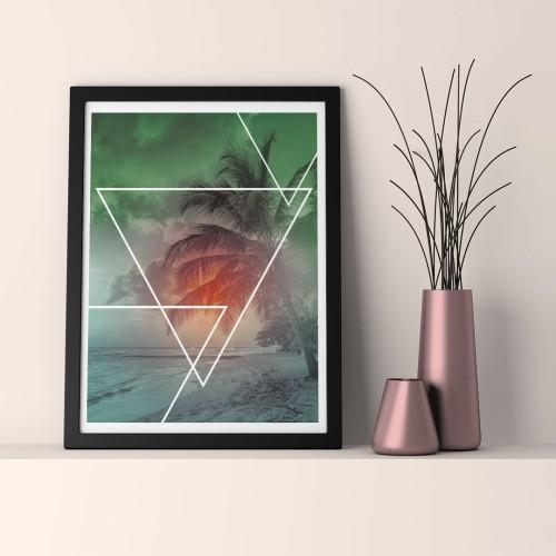 Yeşil Manzara Çerçeveli Poster