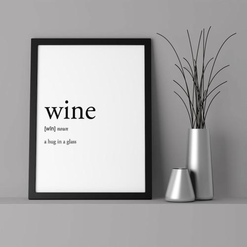 Wine Çerçeveli Poster
