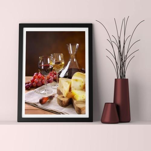 Şarap Masası Çerçeveli Poster