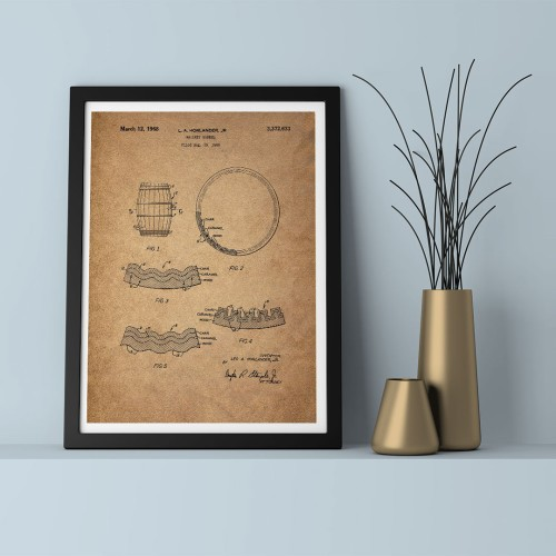 Patent Mahsen Çerçeveli Poster