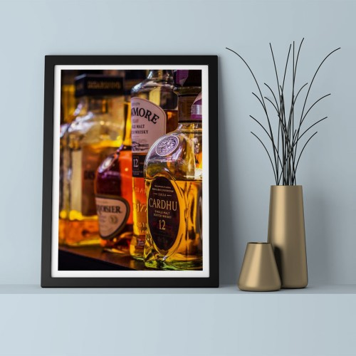 Viski Şişeleri  Çerçeveli Poster