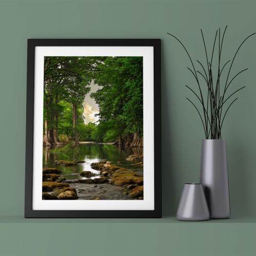 Orman ve Göl Çerçeveli Poster