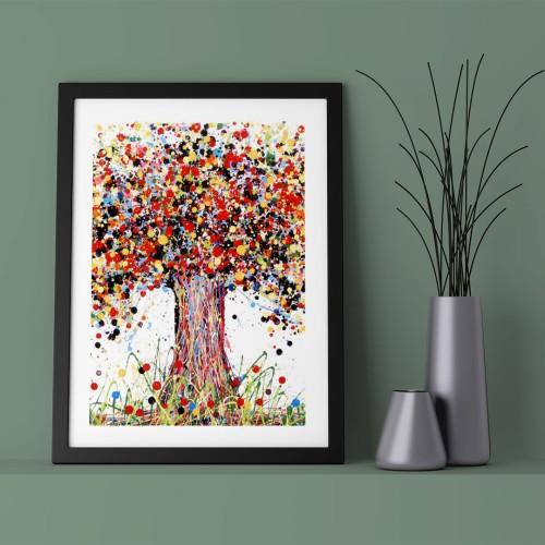 Renkli Ağaç Çerçeveli Poster