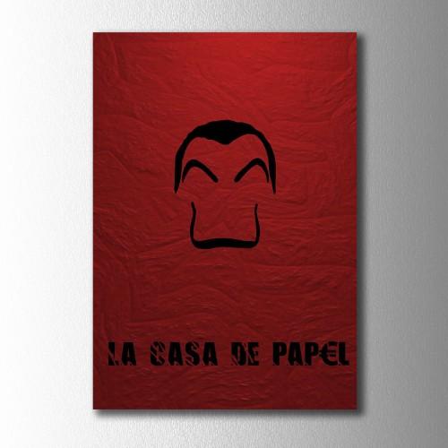 La Casa De Papel Kırmızı Kanvas Tablo