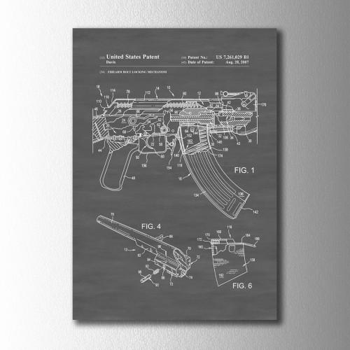 Kilit Mekanizma Patent Kanvas Tablo