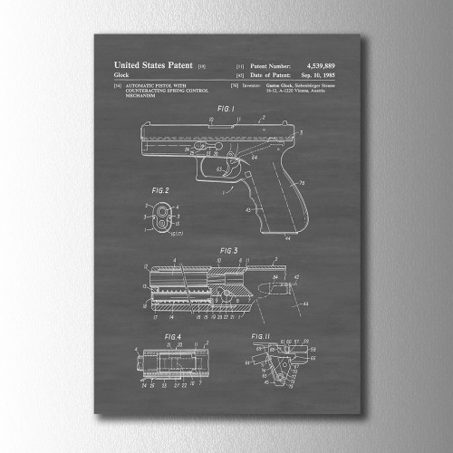 Glock Patent Kanvas Tablo