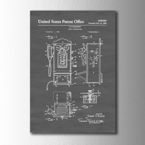 Telsiz Radyo Patent Kanvas Tablo