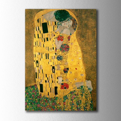 Gustav Klimt Kiss Kanvas Tablo