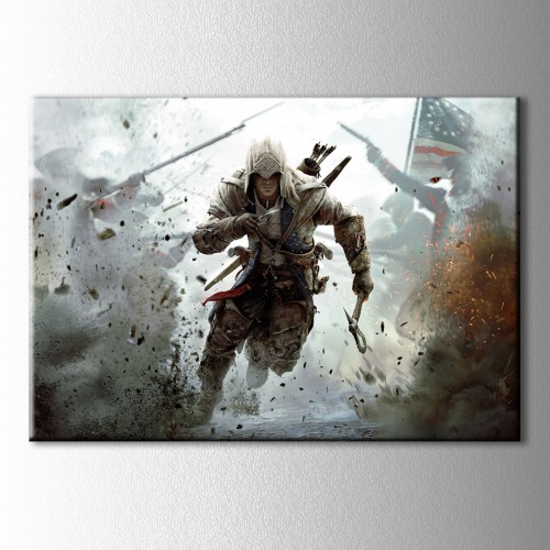 Assassin's Creed Bayrak Kanvas Tablo