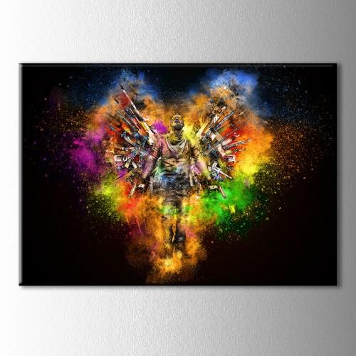 Renklerin Çümbüşü Cs GO Kanvas Tabloo