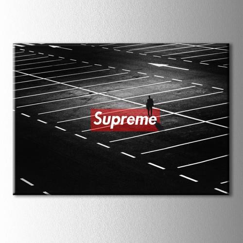 Supreme Asfalt Kanvas Tablo