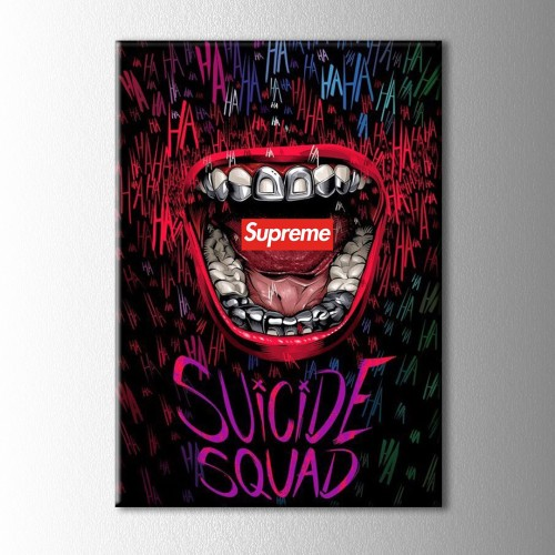 Supreme Suicide Squad Kanvas Tablo