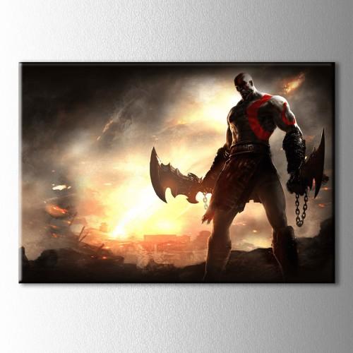 God Of War III Kanvas Tablo
