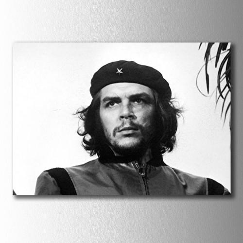 Siyah Beyaz Che Kanvas Tablo